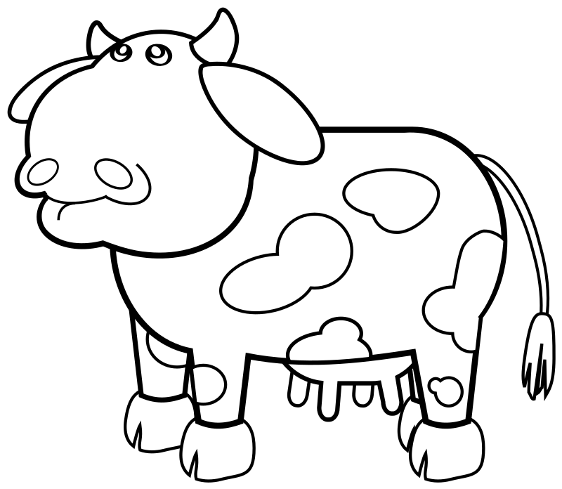 Cow Outline by rygle - Black and white outline version of Mairin's Gray Cow.