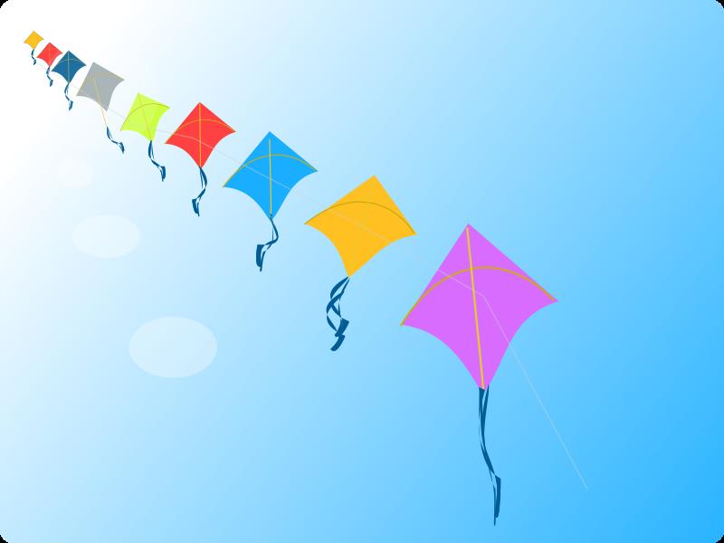 Clipart - Row of Kites
