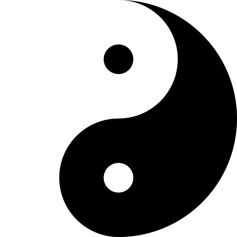 yinyang by 10binary - The yinyang is a common thing all over the place. I drew this from scratch using inkscape and looking at other pictures to see what it's supposed to look like.