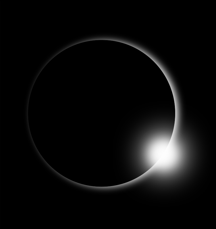 Eclipse by narrowhouse - A simple rendering of an eclipse using very basic shapes and effects