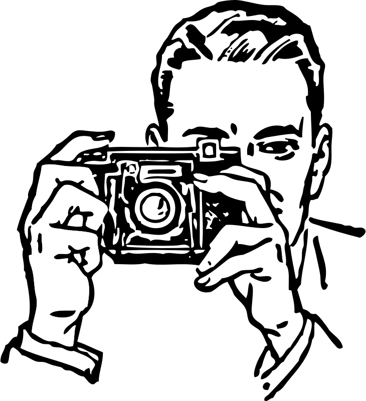 man with a camera by johnny_automatic - a drawing of a man taking a picture with a camera