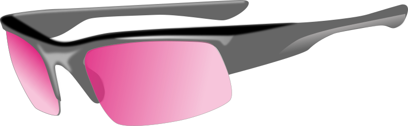 glasses by yves_guillou - Sunglasses with pink glasses.