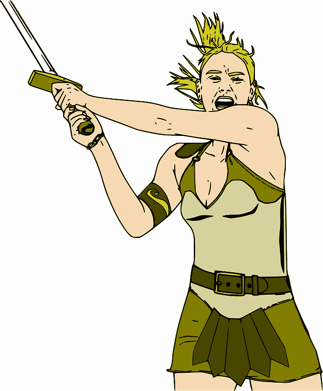 Female Warrior - Color by jpneok - Medieval female fantasy amazon warrior