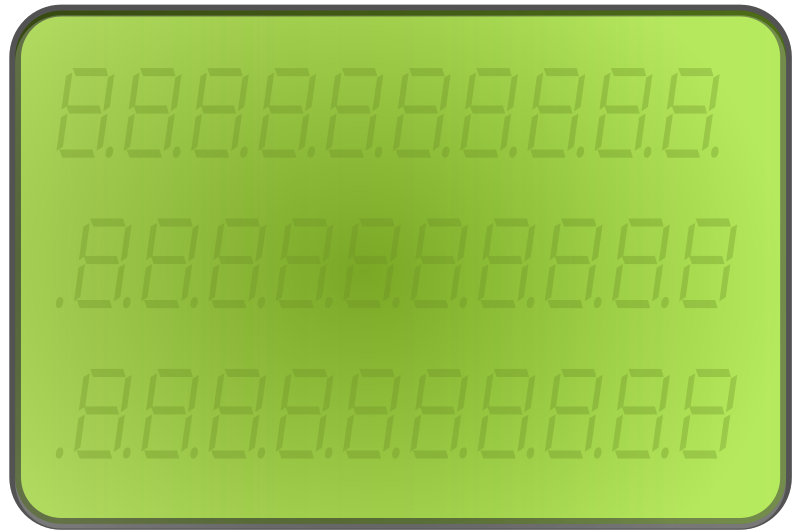 LCD-display-green by StefanvonHalenbach