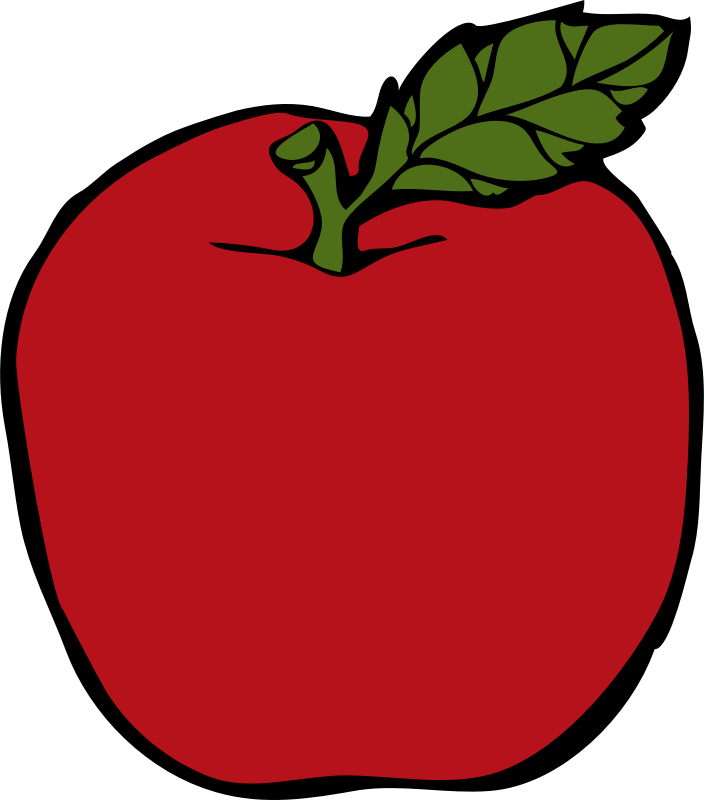 apple by johnny_automatic - a simple drawing of a red apple