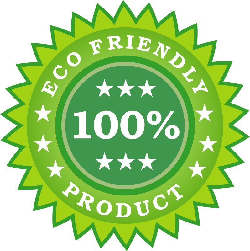 Eco Friendly Product Sticker by vectorportal - Eco-friendly vector sticker