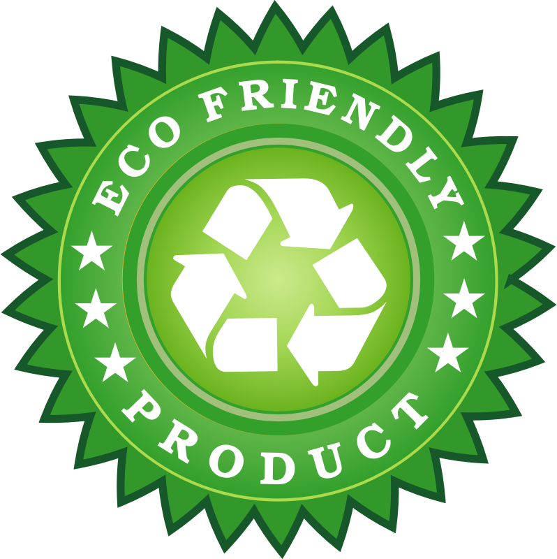 Ecology Friendly Product Sticker by vectorportal - Ecology-friendly vector sticker.