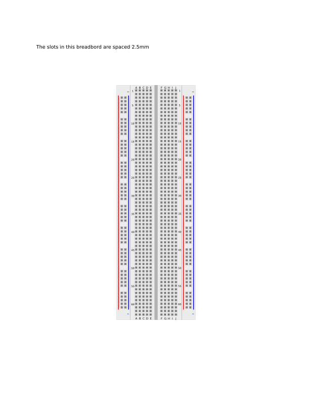 Breadboard by mesamike - A breadboard used to test and prototype electronic circuits. The illustration can be used as a virtual breadboard to prearrange your circuit and save circuit arrangements for future use.