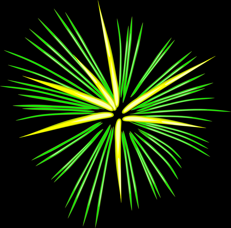 Green Fireworks by eady - Green Fireworks.