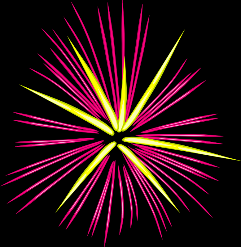 Pink Fireworks by eady - Fire works explosion.