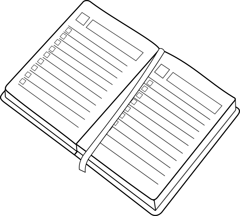 agenda / planner by lmproulx - Line art of an agenda/Date book.