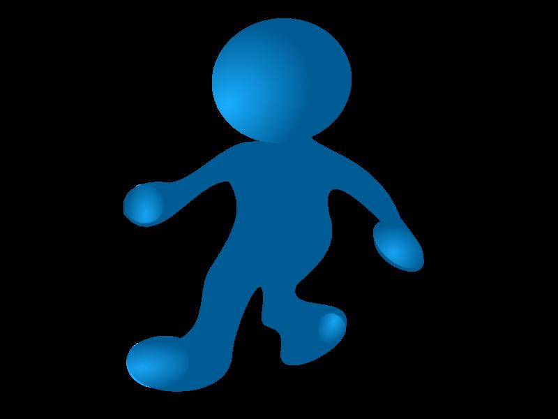 Walking People Logo Clipart - walking