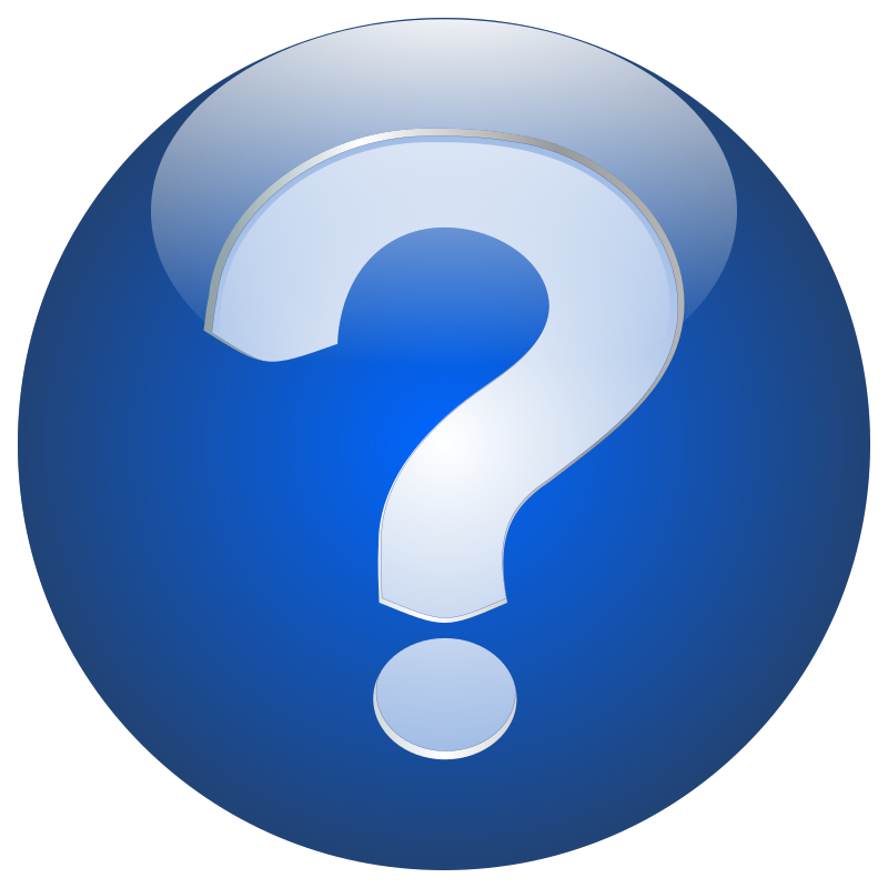 Help Orb Button by decosigner - This is a help button, a glossy orb button with a question mark. Usually used as a help button in an application.