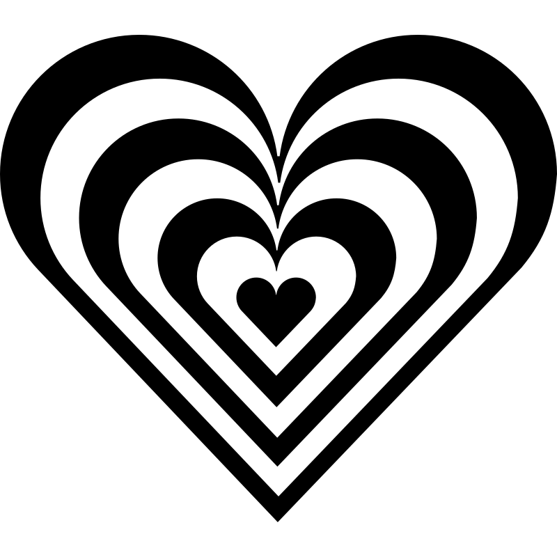 zebra heart by 10binary - A variation of the heart to make it more exciting.