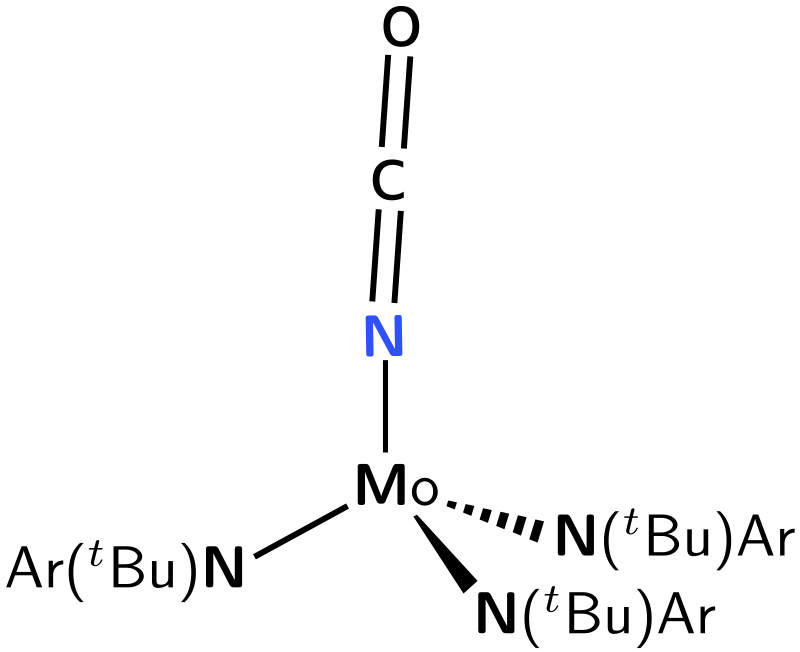 Molybdenum trisanilide isocyanate by cozzolaf - Chemistry drawing.