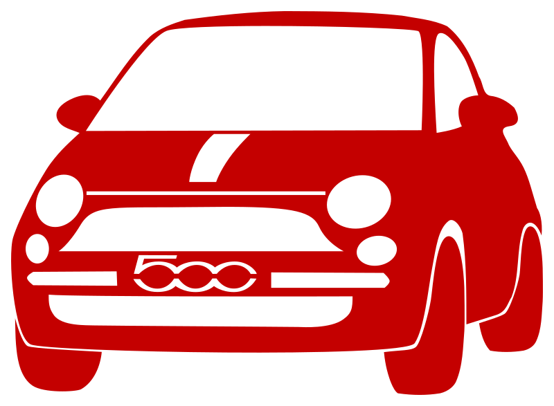 500 by forestgreen - took a photograph of my wife's car and tried to vectorize it manually