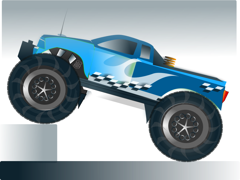 monster truck stunt by netalloy - Motor Sports Clip Art by NetAlloy