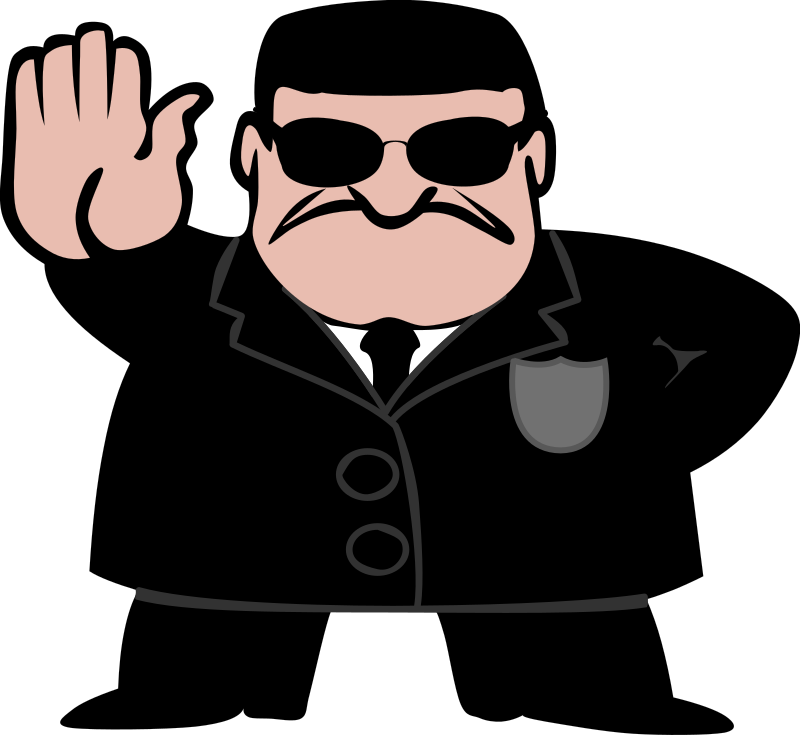 FBI Dude by elkbuntu - FBI, CIA or Secret Agent. Dressed in black suit and wearing dark shades.