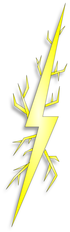 Clipart bolt2 yellow - Add spark wall art picture lights ...