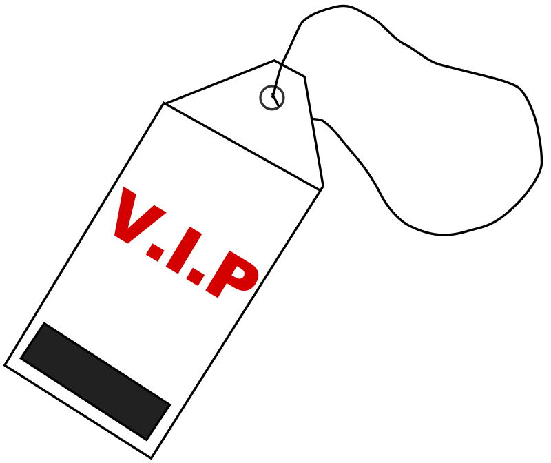VIP Tag by soren121 - A VIP tag I made in Inkscape.