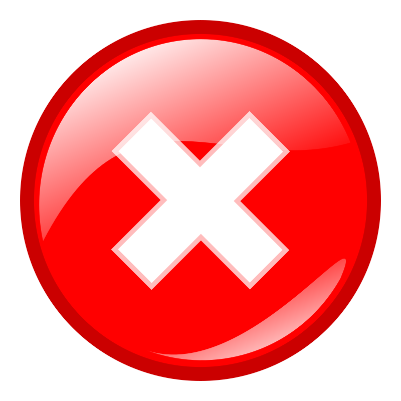 red round error warning icon by molumen
