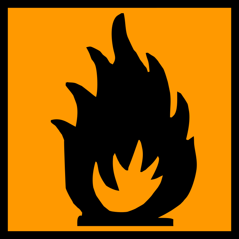 xtremely flammable by yves_guillou - Flammable warning sign.