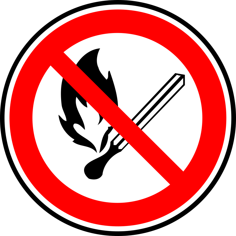 Clipart - Fire forbidden sign