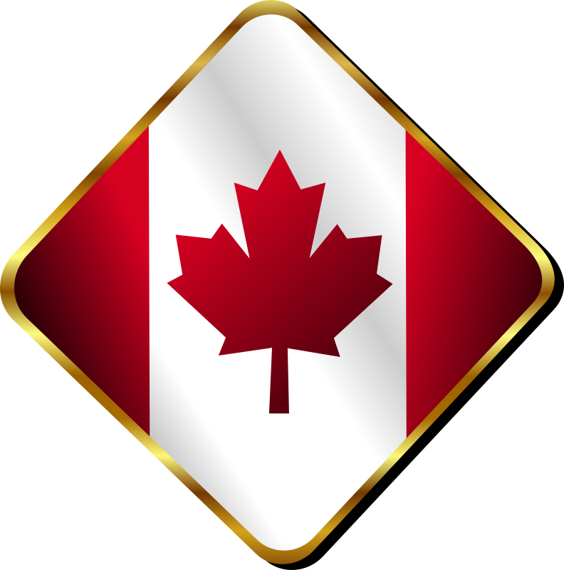 Canadian Pin by Merlin2525 - A Canadian Pin designed in Inkscape.