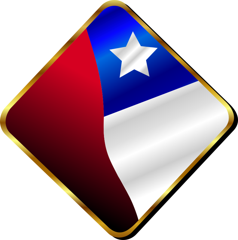 Chilean Pin by Merlin2525 - A Chilean Pin designed with Inkscape.