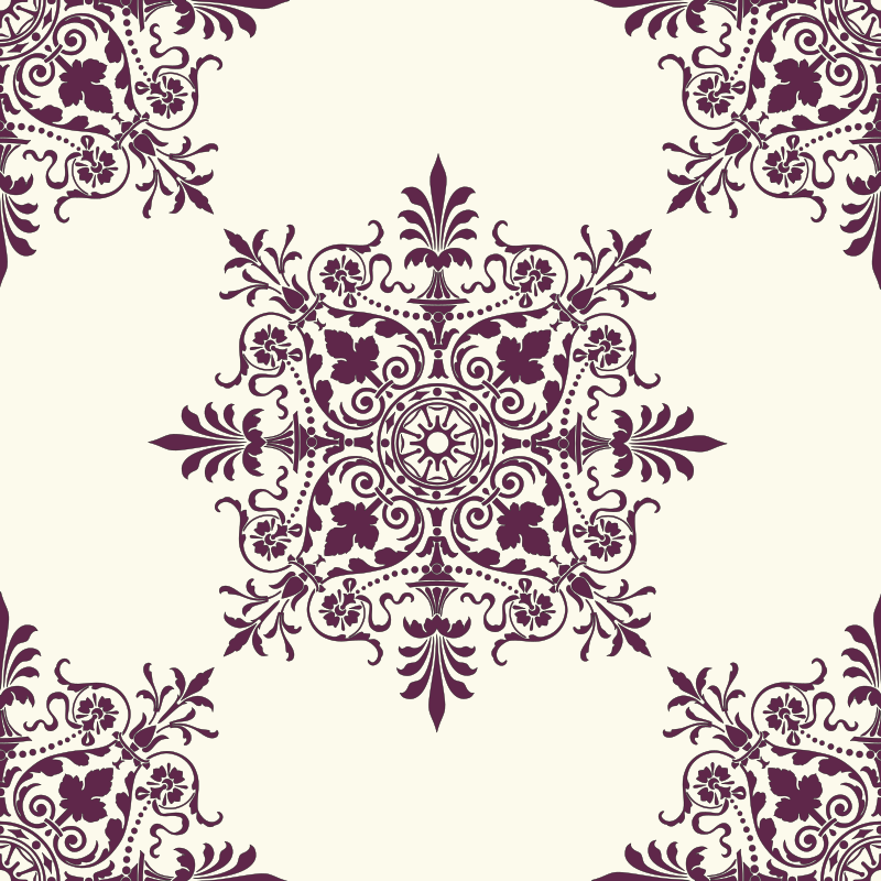 Victorian Background Ornament 2 by kuba - Repetitive Victorian ornament. It can be used as a background or wallpaper.
