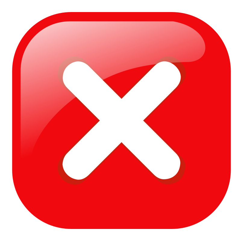red square error warning icon by molumen - a red square error or warning icon