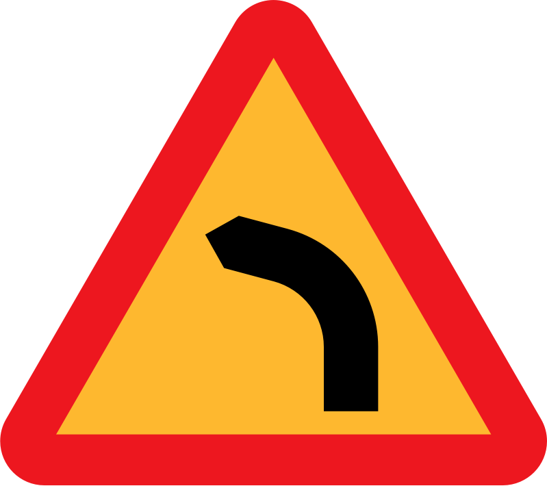Dangerous bend, bend to left by ryanlerch - Dangerous bend, bend to left.