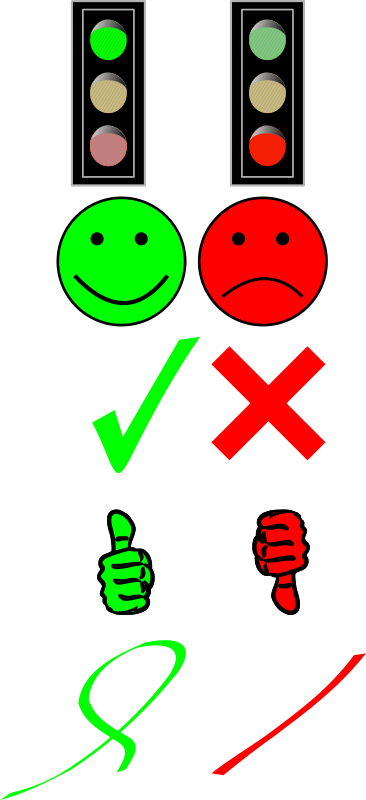 Right or wrong? by Arnoud999 - Some rather simple symbols to show whether an answer is right or wrong. Any more ideas?