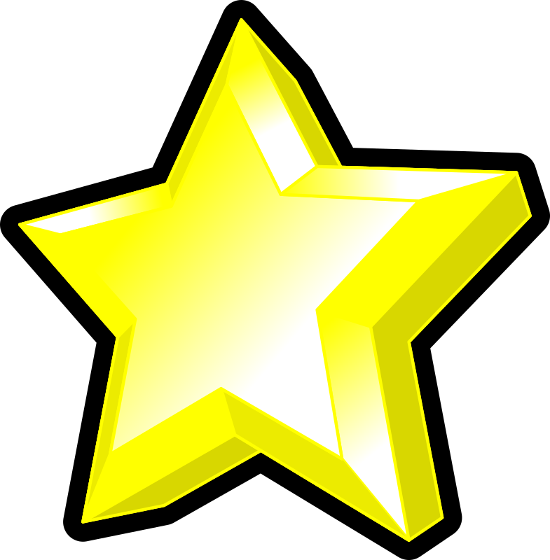 Star symbol by gramzon - A yellow star in 3D with a bevel.