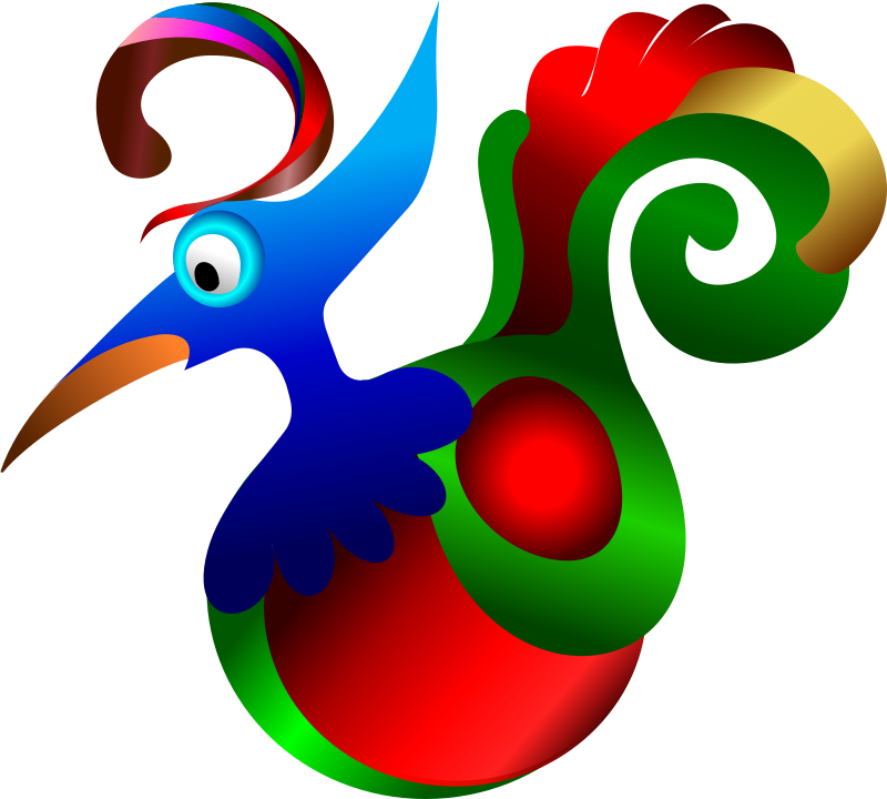 Decorative Bird by Merlin2525 - A decorative bird, is one of the first drawing I made with Inkscape. My take on the bird of Paradise.