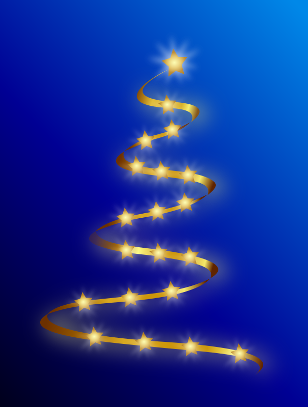 Modern Christmas Tree by Merlin2525 - A modern Christmas Tree drawn with Inkscape.