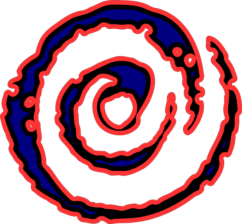 Spiral Fire by martinbryce - A blue spiral with a red border. Contains two spirals with a nice grunge like effect on the edges.