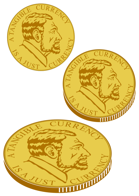 Gold_coin_for_plotter by Raker Tooth - Hand drawn profile of man. I took a nice digital picture of a coin from the Cayman Islands, with Q.E. on it, but copyright for coins is different than for other things you take a picture of. So, to be safe, I drew this guy, he is no one