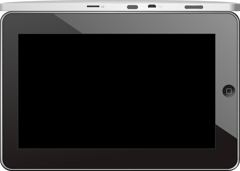 Android tablet ZT-180 from Zenithink by BenBois - This is the front view and side view of the ZT-180 Android tablet from Zenithink