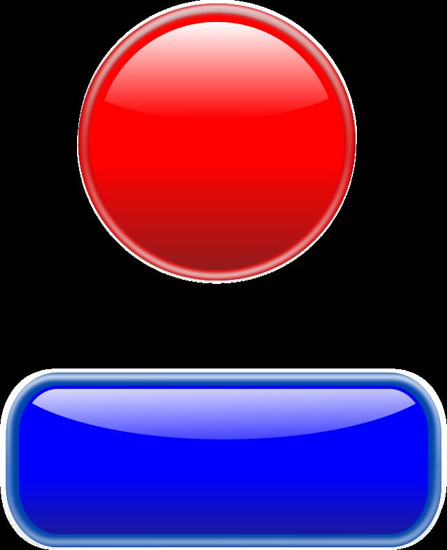 Clipart Glossy Button With Bezel Boton Brillante Con Bisel