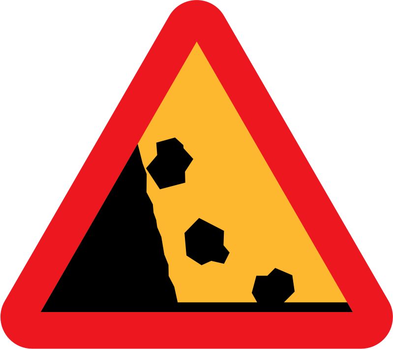 Falling Rocks from the LHS roadsign by ryanlerch