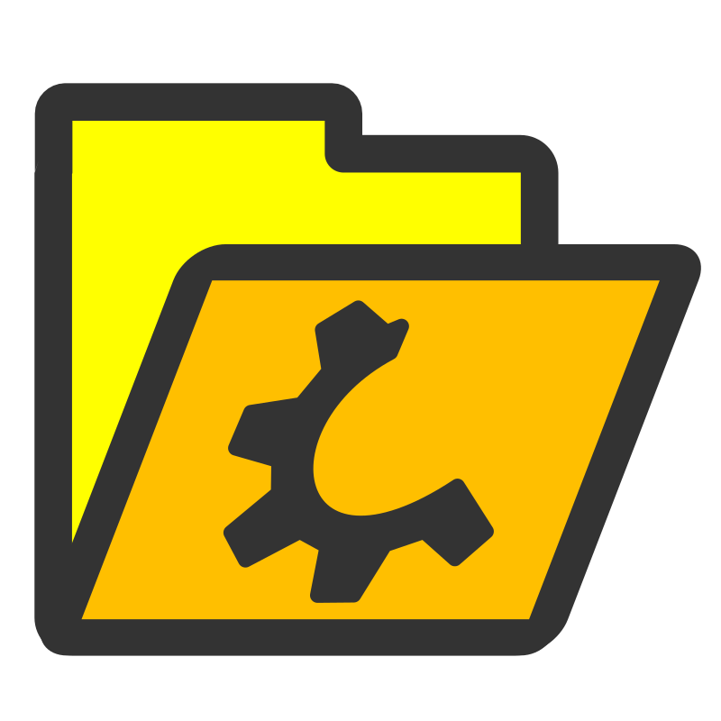 folder yellow open by dannya - Originally uploaded by Danny Allen for OCAL 0.18 - this is one icon from the flat theme