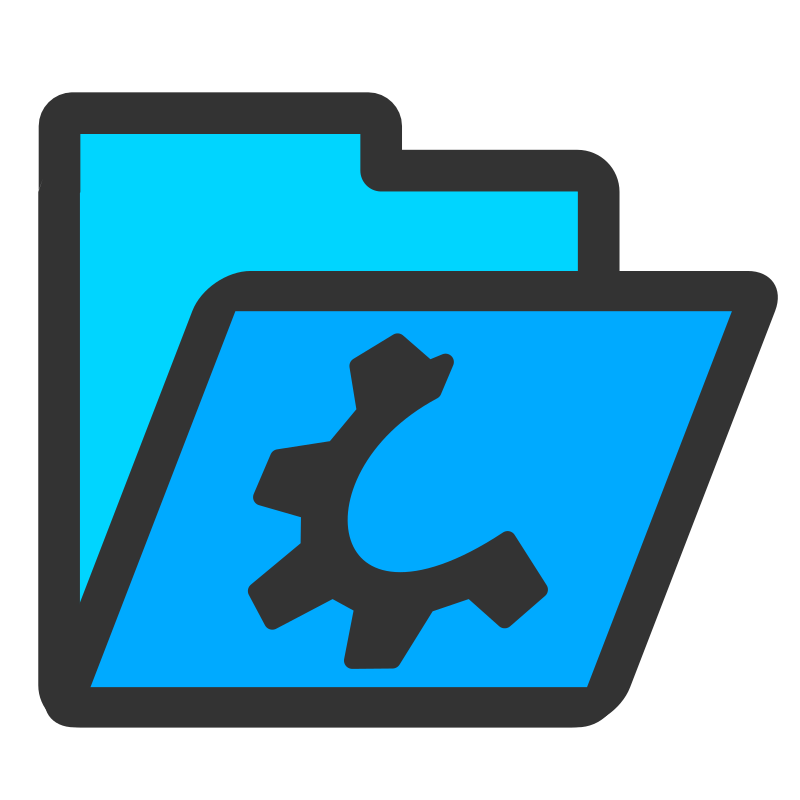 folder cyan open by dannya - Originally uploaded by Danny Allen for OCAL 0.18 - this is one icon from the flat theme