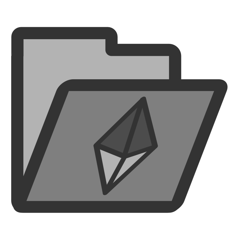 folder crystal by dannya - Originally uploaded by Danny Allen for OCAL 0.18 - this is one icon from the flat theme