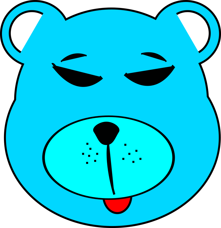 Blue Bear by newtonguarinof - Simple blue bear in Inkscape