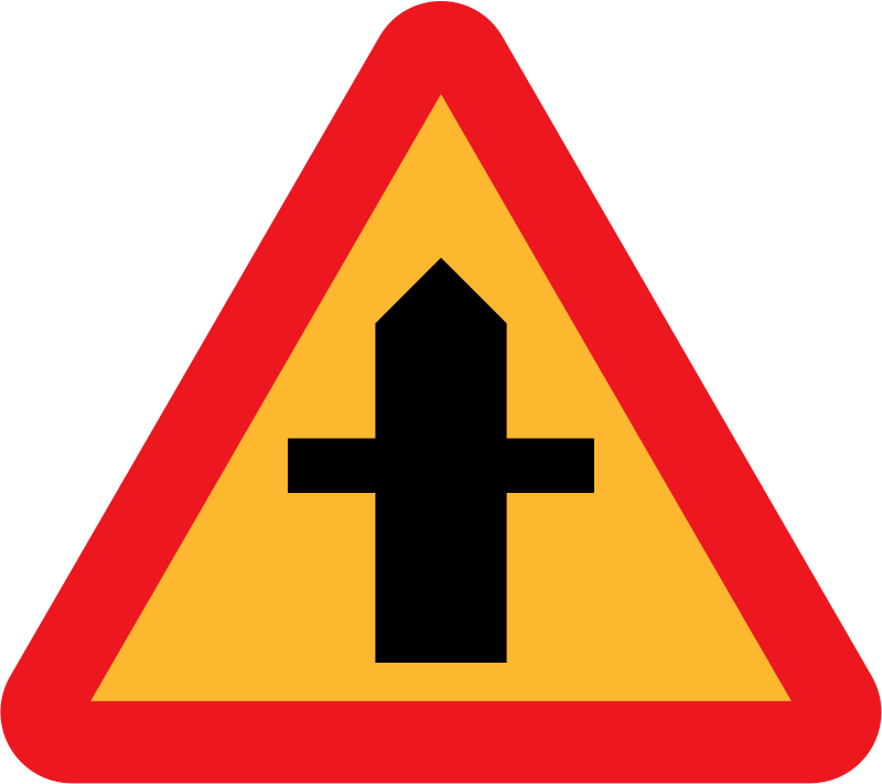 Roadlayout sign 1 by ryanlerch - A sign depicting the layour of an intersection.