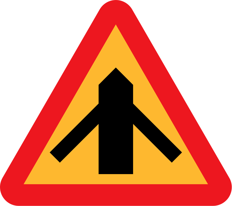 Roadlayout sign 2 by ryanlerch - A sign depicting the layour of an intersection.