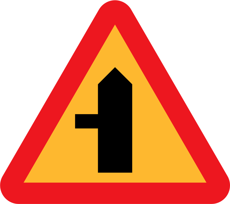 Roadlayout sign 5 by ryanlerch - A sign depicting the layout of an intersection.