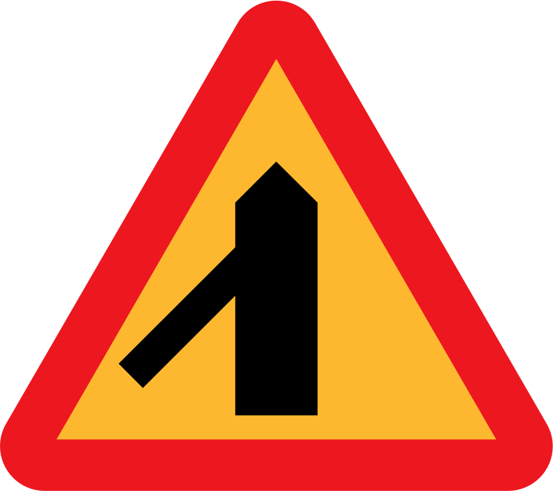 Roadlayout sign 6 by ryanlerch - A sign depicting the layour of an intersection.