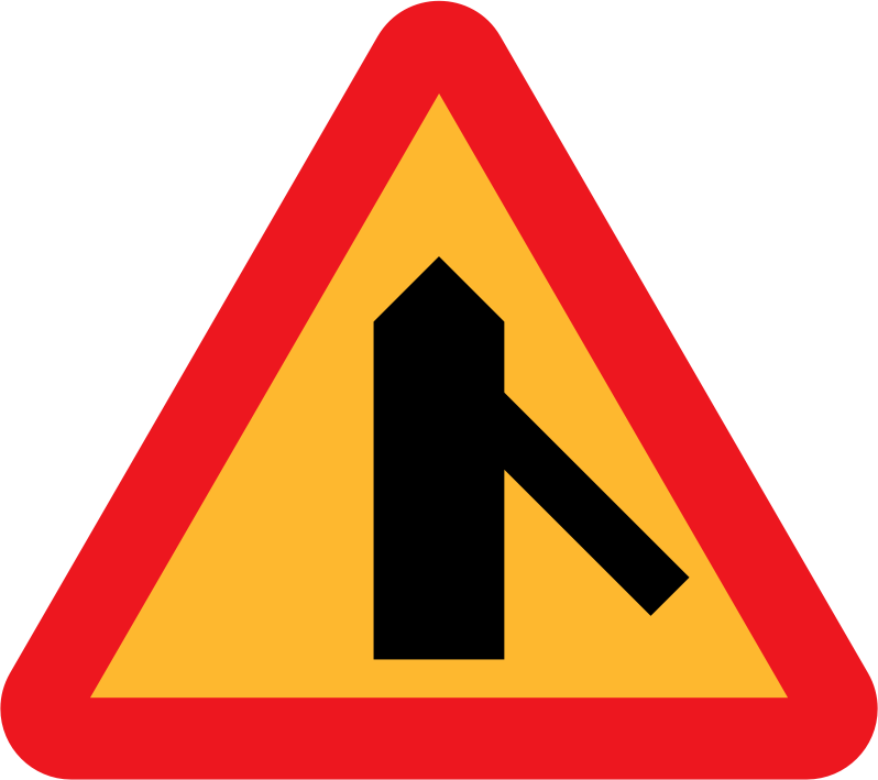 Roadlayout sign 7 by ryanlerch - A sign depicting the layour of an intersection.